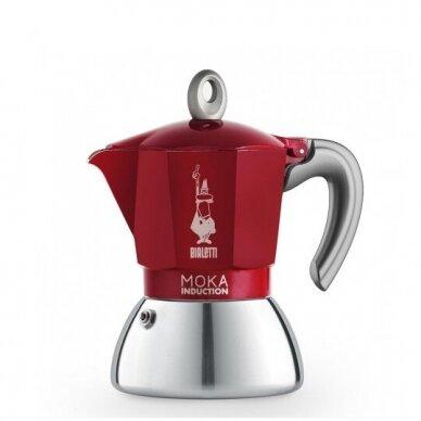 "Moka kavavirė Bialetti ""Moka Induction 4-cup Red"" 165ml"