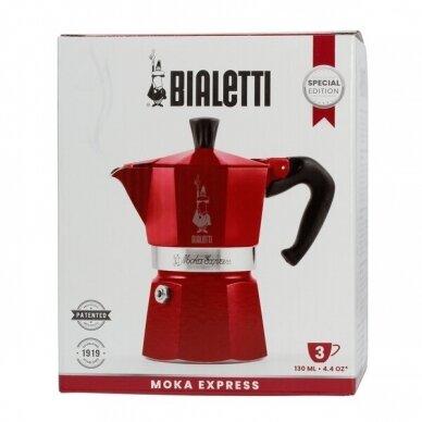 "Moka kavavirė Bialetti ""Moka Express 3 cups Red"" 150ml 2"