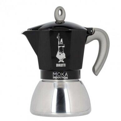 "Moka kavavirė Bialetti ""Moka Induction 6-cup Black"" 280ml"