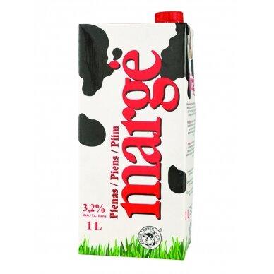 "Pienas ""MARGĖ"" 3,2% rieb., 1 l"