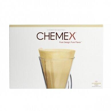 Popieriniai filtrai Chemex 1-3 cup, rudi 100vnt.