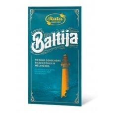 """Rūta """"Pieninis šokoladas su mėlynėmis ir avietėmis Baltija"""" 90g."""
