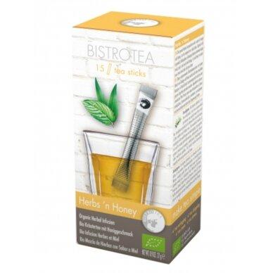 "Žolelių arbata BistroTea ""Herbs'n Honey"" 15vnt. lazdelių"